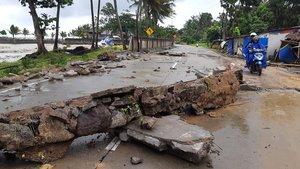 Consecuencias del desastre en Indonesia.