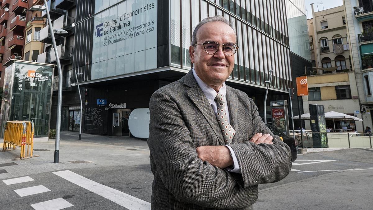El decano delCol·legi dEconomistes, Anton Gasol.