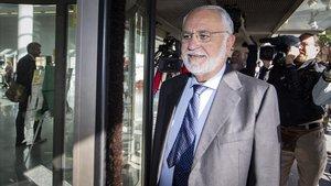 El exvicepresidente del Gobierno Valenciano Juan Cotino declara como investigado por la visita del Papa a València