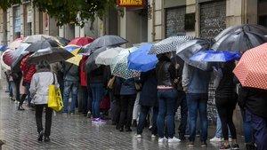 Sábado de lluvia el pasado mes de octubre en Barcelona.