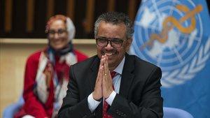 El director general de la OMS, Tedros Adhanom Ghebreyesus, el pasado viernes en Ginebra.