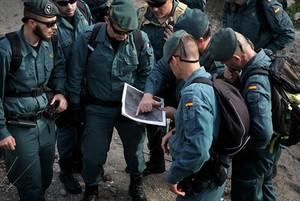 Efectivos de la Guardia Civil participan en la búsqueda de Gabriel, ayer.