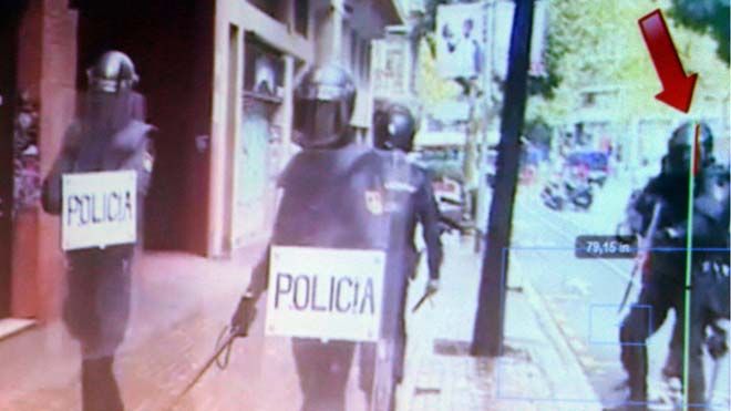 Identificat l'escopeter de la Policia Nacional que va ferir a l'ull Roger Español