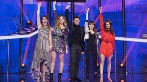 Los finalistas del talent OT2017, de TVE-1: Amaia, Miriam, Alfred, Aitana y Ana Guerra.