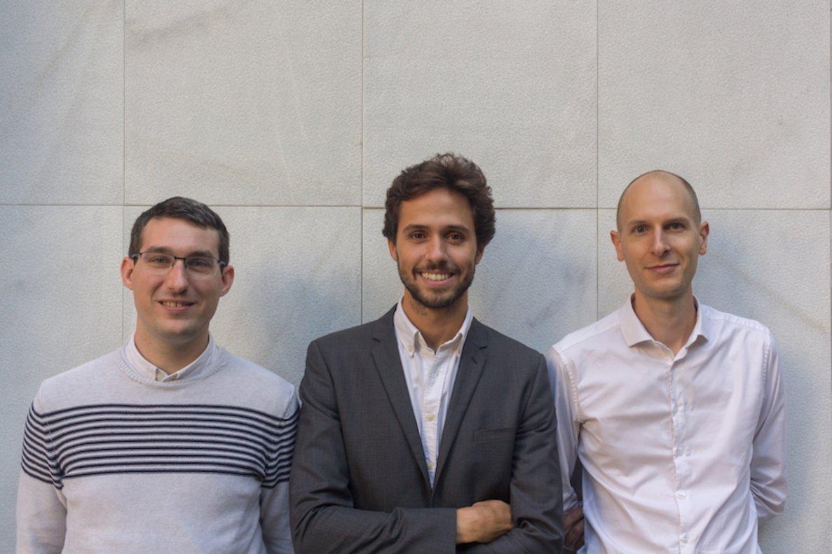 Nicolas Overloop, Marc Antoni y Federico Travella.