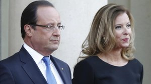 François Hollande y Valerie Trierweiler, en el Eliseo, cuando eran pareja.
