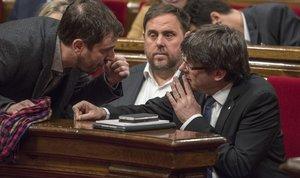 La Junta Electoral deixa vacants els escons de Puigdemont, Comín i Junqueras