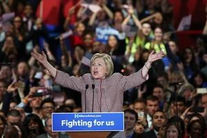 Hillary Clinton en un acto de las primariasen Nueva York.