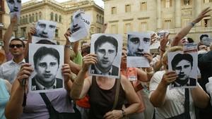 Un homenaje, del 2006 en Barcelona,al concejal del PP de Ermua asesinado por ETA Miguel Ángel Blanco.