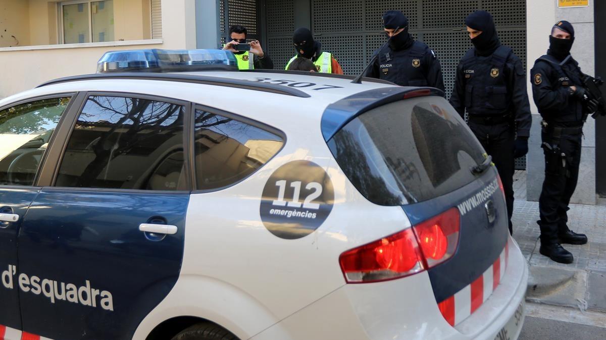 Imagen de archivo de la última operación contra el yihadismo, realizada en Sant Pere de Ribes.