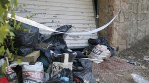 Imagen del garaje en el que han sido hallados los dos cadáveres.