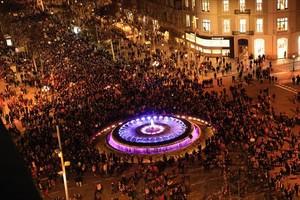 Imagen de la manifestación del Día de la Mujer del pasado 8 de marzo, en Barcelona.