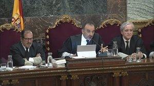 Imagen de la sala del Tribunal Supremo donde se está juzgado a políticos catalanes por el 1-O