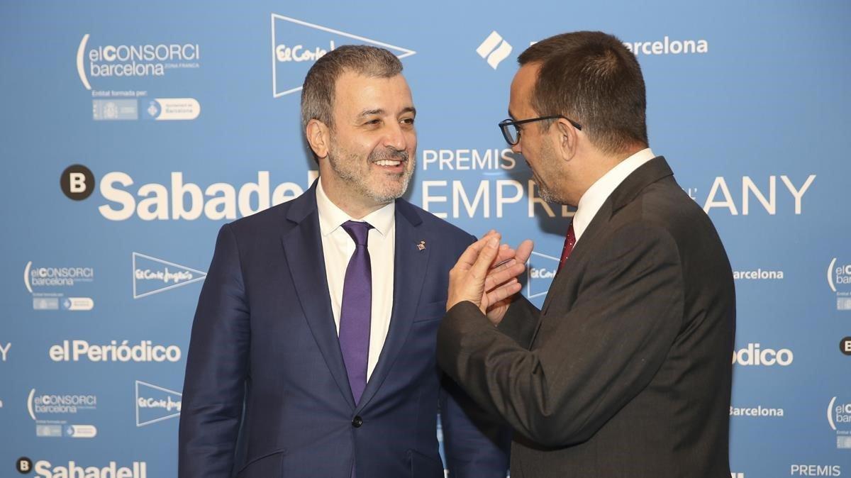 De izquierda a derecha, Jaume Collboni yJoan Alegre.