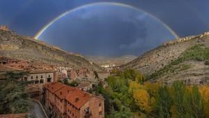 Arco iris sobre Albarracín.