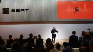 Presentación de Seat en el Mobile World Congress.