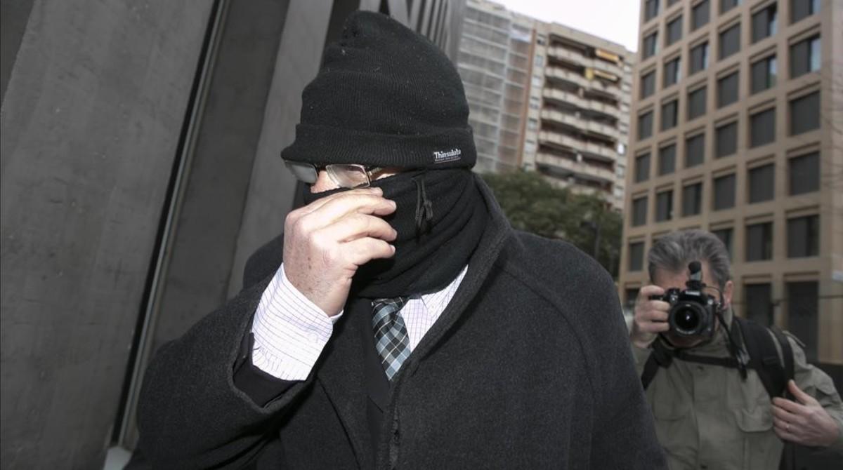 Joaquim Benítez, en febrero, en los alrededores de la Ciutat de la Justícia de Barcelona.