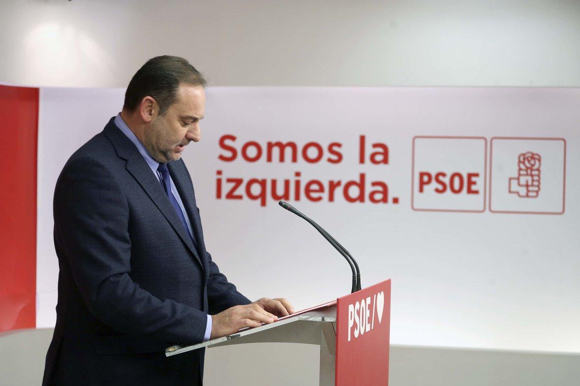 José Luis Ábalos, en Ferraz.