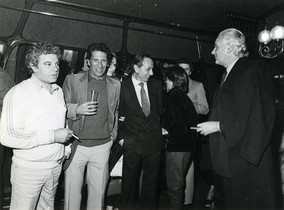 Juan Marsé, Carlos Duran, Oriol Regàs i José Luis de Vilallonga, a Bocaccio.