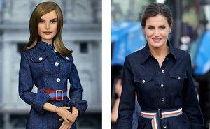 Letizia y la muñeca inspirada en ella.
