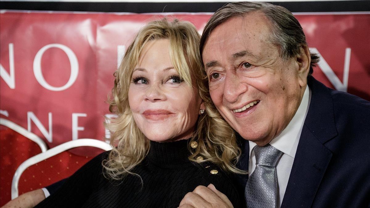 Melanie Griffith y el empresario austriaco Richard Lugner.