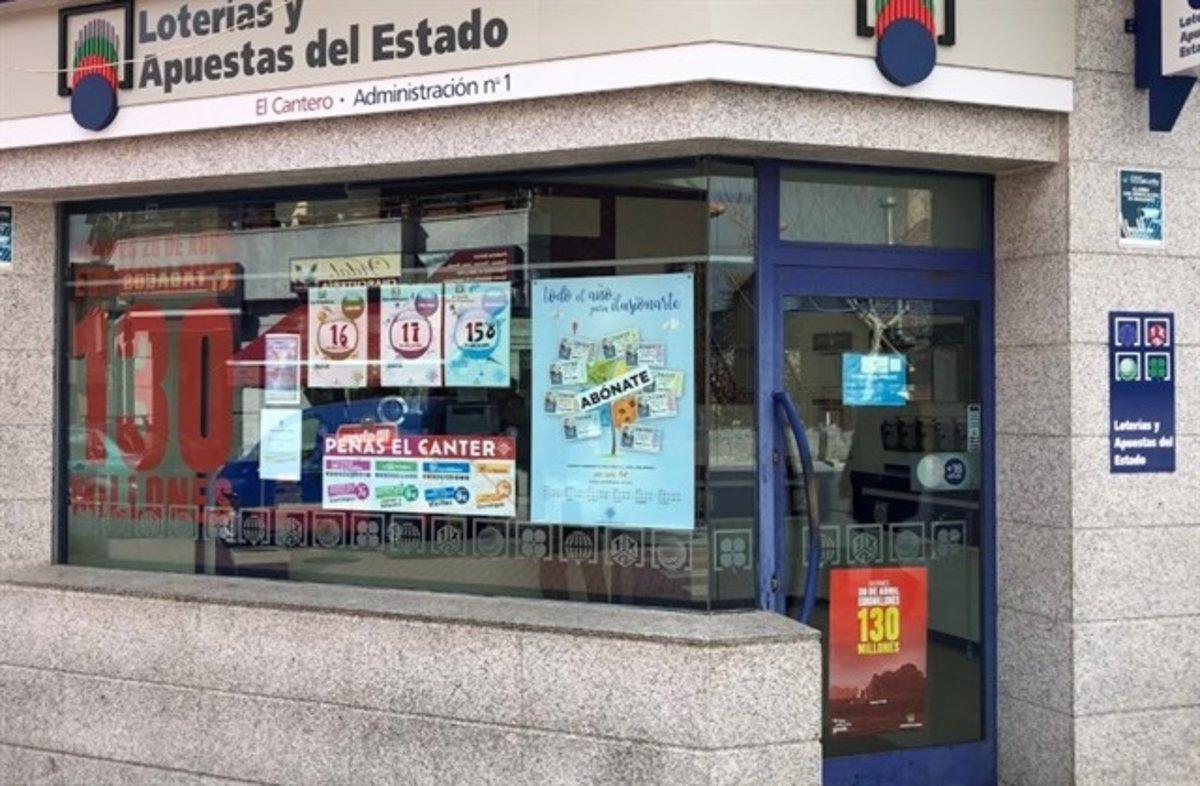 Administración de lotería El Cantero, en Alpedrete.