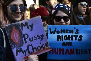 Manifestación feminista en Washington el pasado 21 de enero, tras la toma de posesión del presidente Donald Trump.