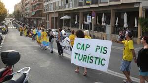 Manifestación contra el turismo masivo.