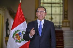 El presidente de Perú, Martín Vizcarra en mensaje a la Nación.