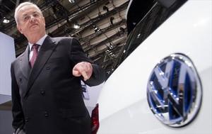 Martin Winterkorn durante la presentación de un modelo de Volkswagen en el 2014.
