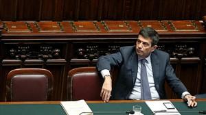 Maurizio Lupi, en el Parlamento de Italia, este miércoles.