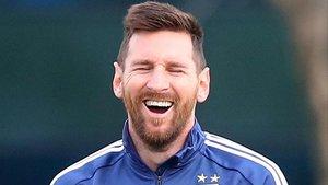 Lionel Messi, en el entrenamiento con la selección argentina en Ezeiza.