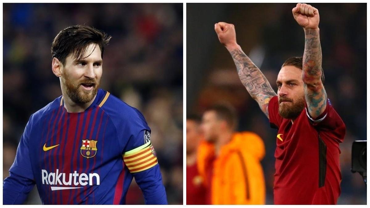 Messi y De Rossi.