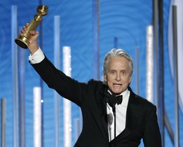 Michael Douglas  winner of best actor in a TV series  musical or comedy for his role in  The Kominsky Method  at the 76th Annual Golden Globe Awards at the Beverly Hilton Hotel  Sunday  Jan  6  2019 in Beverly Hills  Calif   Paul Drinkwater NBC via AP