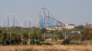 Vista de las instalaciones de Port Aventura.