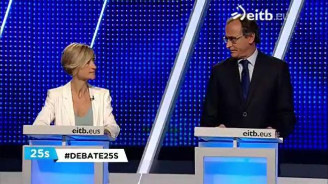 Pili Zabala deja sin palabras al candidato del PP en el País Vasco