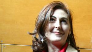 Montse Pérez, en una imagen del 2003, cuando interpretó 5 mujeres.com en el teatro Victoria de Barcelona.