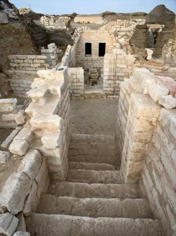 Necrópolis alta, excavada por la misión de Oxirrinco.