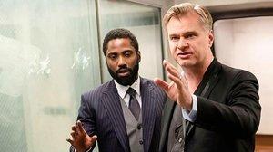 Christopher Nolan y John David Washington, en el rodaje de 'Tenet'.
