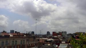 Nubes sobre Barcelona, en una imagen de archivo.