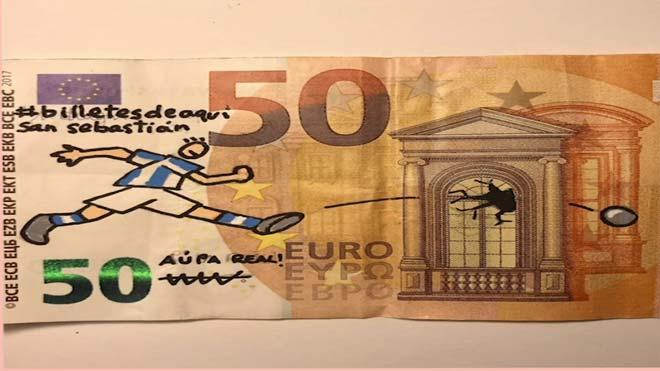 Óscar Casla dibuja un #BilleteDeAquí.