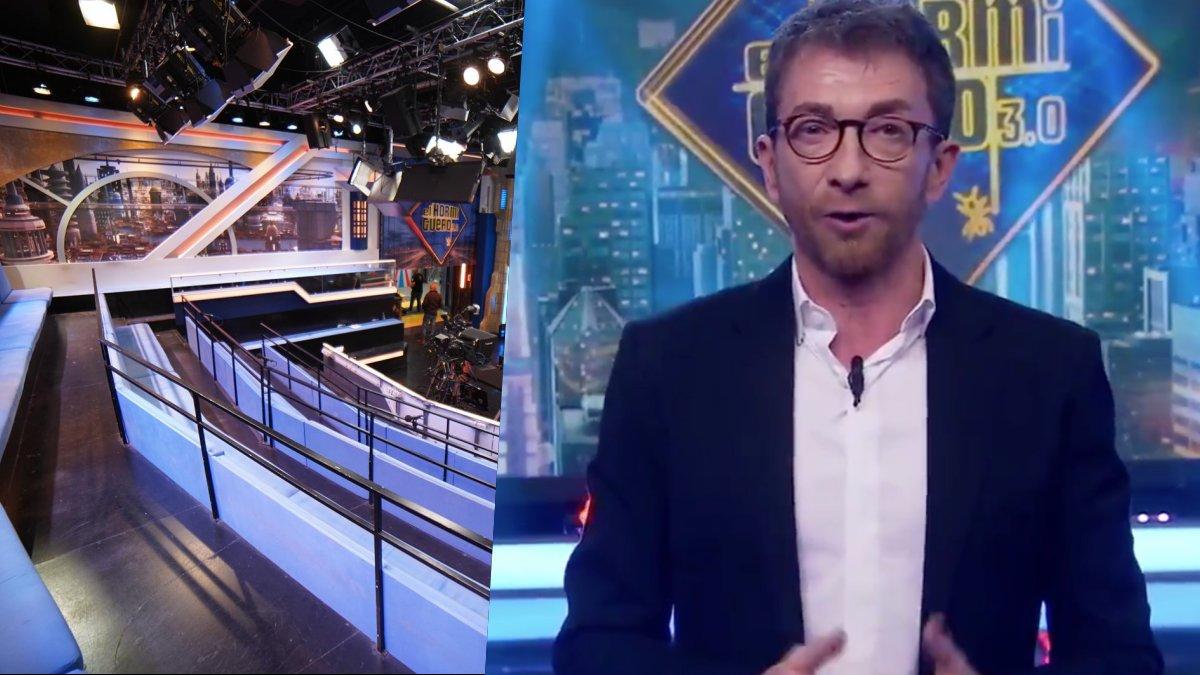 Pablo Motos presentando 'El hormiguero' sin público en plató.