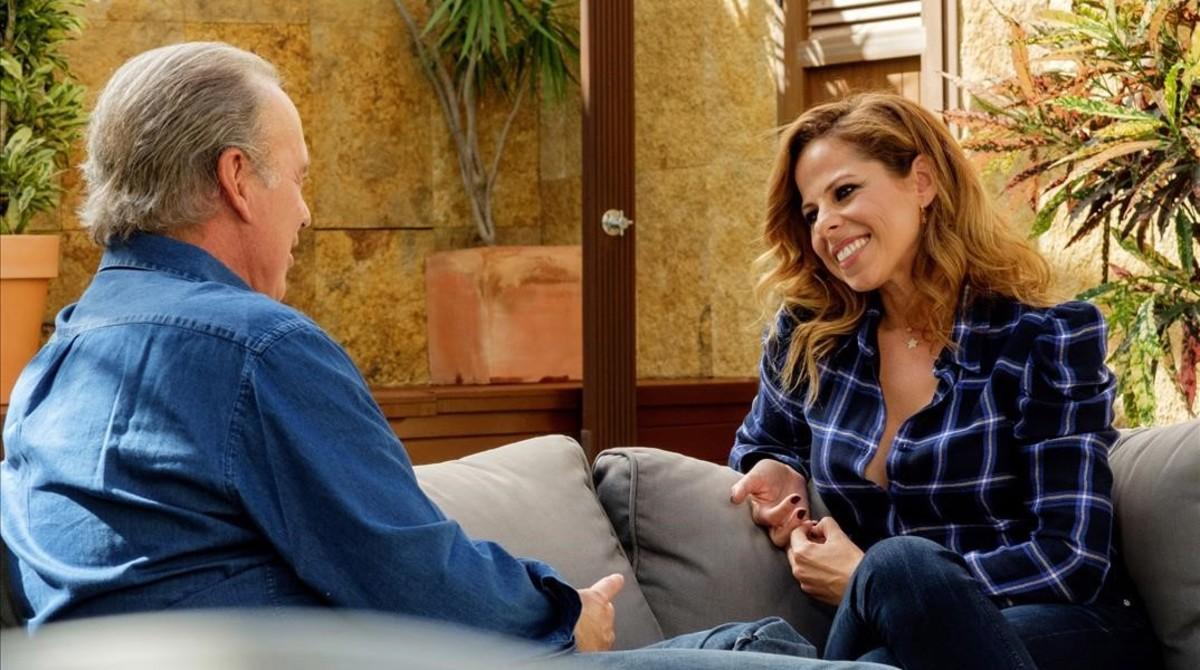 Pastora Soler yBertín Osborne, en el programa Mi Casa es la Tuya.