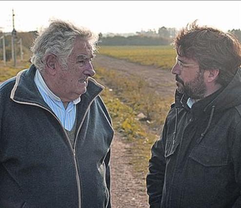 Pepe Mujica y Jordi Évole, en un momento de 'Salvados'.