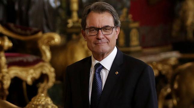 El president Artur Mas, al Palau Reial, després de la proclamació de Felip VI com a nou rei, aquest dijous.