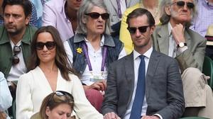 Pippa Middleton y su marido, James Matthews, en un partido de Wimbledon del año pasado.