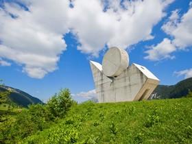 El monumento a la resistencia, entre los que estaban los repúblicanos españoles, en la cima del Plateau des Glières, en los Alpes.