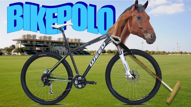 Apolo shi pot jugar en bici.
