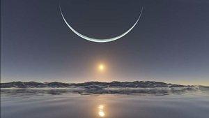 La falsa imagen de la puesta de sol desde el polo Norte