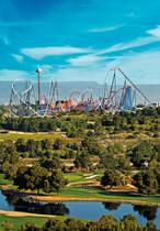 Vista general del parque de atracciones Port Aventura.